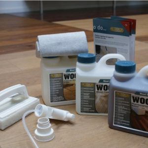 WOCA Pflegeset / Pflegebox Natur (Holzbodenseife, Intensivreiniger, Pflegeöl)