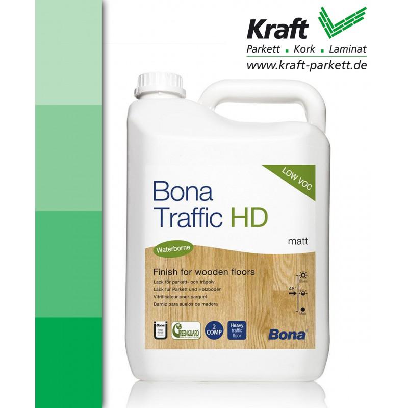 Bona Traffic HD Matt, 4,95 Liter, Parkettlack, Versiegelung, Wasserlack