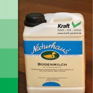 Naturhaus Bodenmilch 1L - Pflege von Parkett, Treppen und Holzböden / 02400